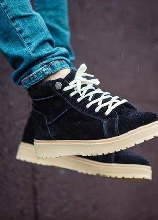 Ботинки south navy black (зима)