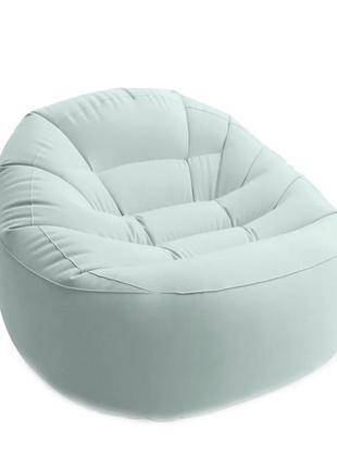 Надувное велюровое кресло 68590, 112-104-74см (Зелёный)