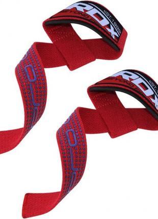 Лямки для тяги 58 см RDX Gel Pro Red красный с гелевыми вставками