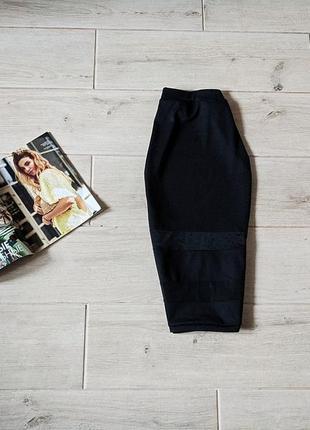 Стильная юбка миди карандаш с сеточкой xs s