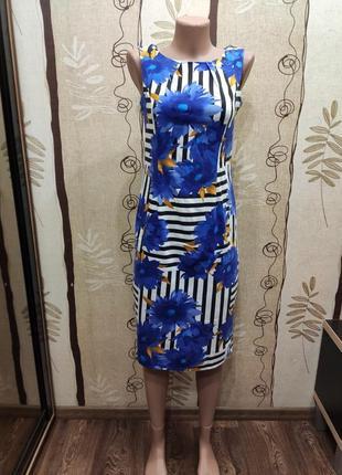 F&f летнее платье миди в цветочный принт