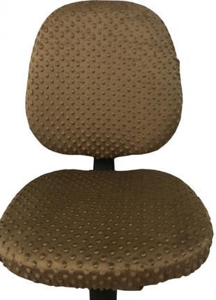 Плюшевый чехол на офисное кресло, натяжной на резинке MinkyHom...