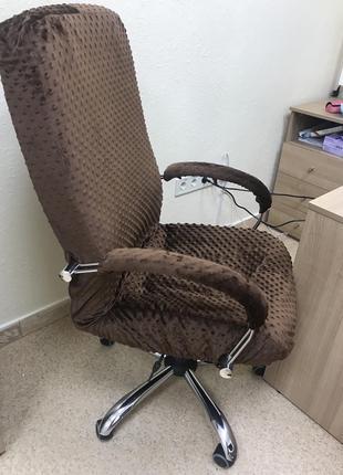 Натяжной чехол на офисное кресло директора MinkyHome + чехлы н...