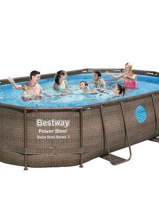 Каркасный бассейн Bestway 56946 - 0, 488 х 305 х 107 см (чаша,...