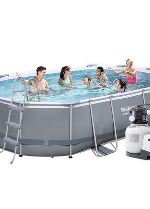 Каркасный бассейн Bestway 56448 - 6, 488 х 305 х 107 см (6 000...