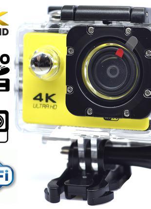 Экшн камера 4K wi-fi + Видеорегистратор+ Аквабокс +крепления а...