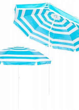 Пляжный зонт с регулируемой высотой и наклоном Springos 220 см...