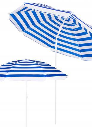 Пляжный зонт с регулируемой высотой и наклоном Springos 180 см...