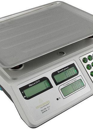 Весы торговые электронные со счетчиком цены на 50 кг CB 5006 C...
