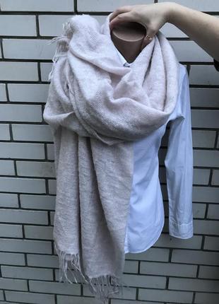 Большущий,длинный,теплый,пудровый шарф,палантин,накидка,плед с...