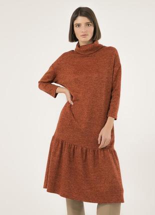 Удобное платье на каждый день season оранжевого цвета