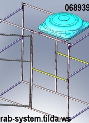 Краб-системы (хомут для профильной трубы) для профтрубы х-30