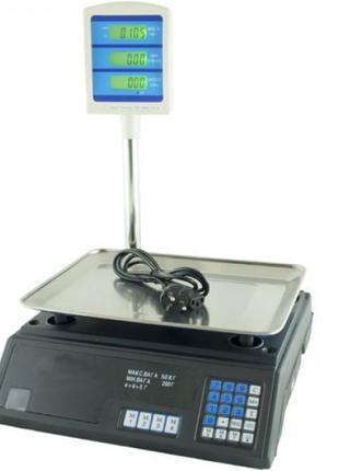 Торговые весы со стойкой DOMATEC MS-308 50кг