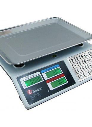 Весы Торговые DOMOTEC c металлической кнопкой MS-982S/ 4V/ 50K...