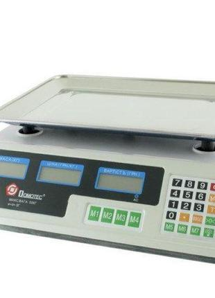 Весы Торговые DOMOTEC MS-228/ 50кг/6v/2г