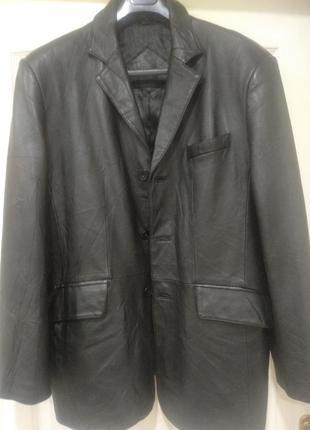 Мужской кожаный пиджак, италия