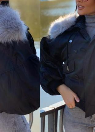 Оригинальная стильная женская куртка бомбер в стиле oversize,о...