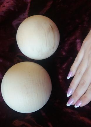 Шар деревянный шары деревянные пол шара полусфера бусина навершие