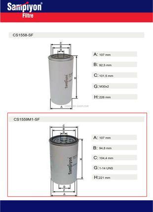 Фильтр топливный двигателя Iveco CS1559M1-SF