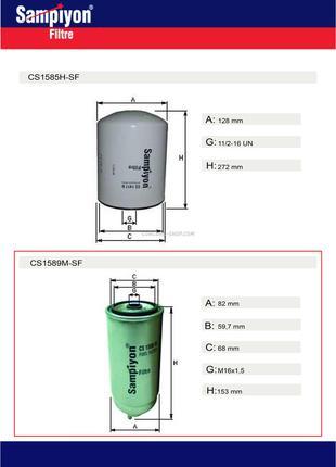 Фильтр топливный двигателя Iveco CS1589M-SF
