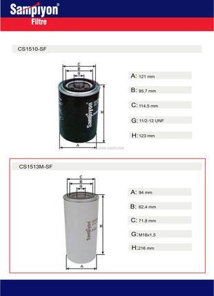 Фильтр топливный двигателя Volvo CS1513M-SF