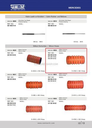 Патрубок интеркулера Mercedes SEM8830