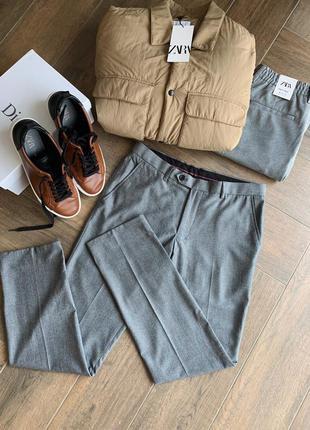 Чоловічі сірі брюки, next, розмір 30