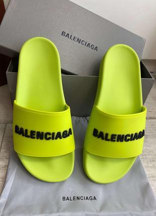 Шлепанцы Balenciaga Pool Slide In Lime