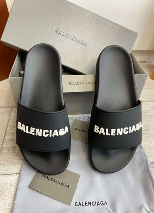 Шлепанцы Balenciaga Pool Slide Черные