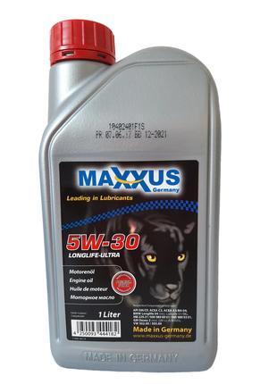 Масло Maxxus 5W-30 LONGLIFE-ULTRA 1л синтетическое 5W30-ULTRA-001