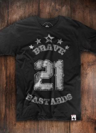 Мужская футболка brave bastards 21