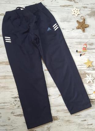 Теплые спортивные штаны на флисовой подкладке плащевка