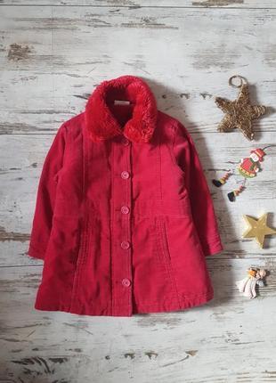 Теплое зимнее пальто на меховой подкладке