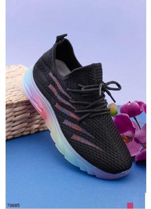 Кроссовки женские кроссы кросівки кроси черные чёрные чорні с ...
