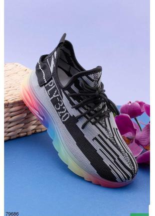 Кроссовки женские кроссы кросівки кроси черные чёрно-серые чор...