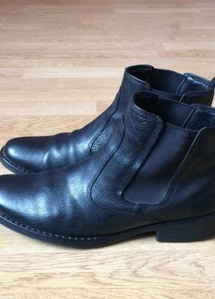 Кожаные ботинки ecco 46 размера в отличном состоянии