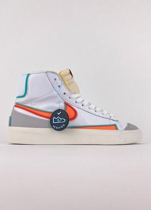 Стильные женские  кроссовки  🔥 nike blazer mid '77 white orange.