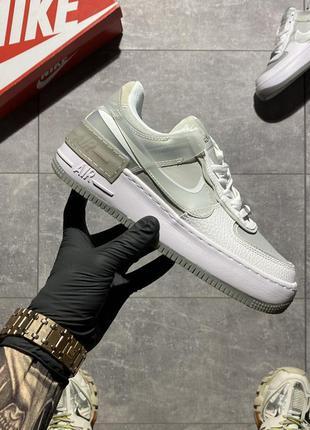 Кроссовки nike air force shadow white grey.