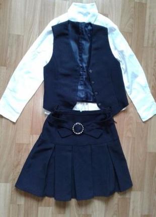 Школьная форма#юбка,жилетка,пиджак,рубашка