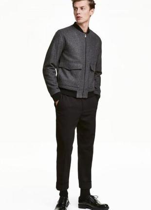Костюмные брюки из твила