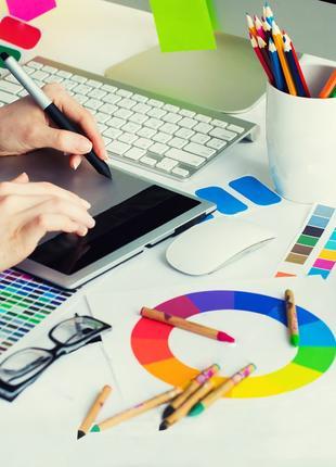 Дизайн полиграфии, оформление рекламы, фирменный стиль