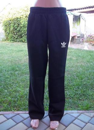 48 / 50 р adidas теплые на флисе мужские штаны новые