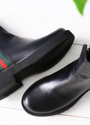 Lux обувь! натуральные кожаные зимние мужские ботинки на удобн...