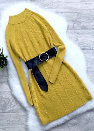 Теплое платье с горлом