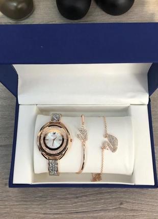 Подарочный набор часы браслет swarovski bracelet/watch/suspens...