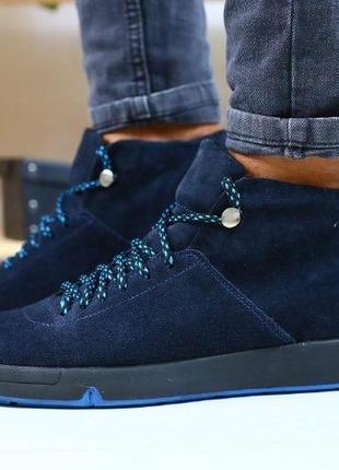 Lux обувь! натуральные зимние качественные ботинки сапоги мужские