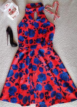 Платье приталенное в принт 💃🌹