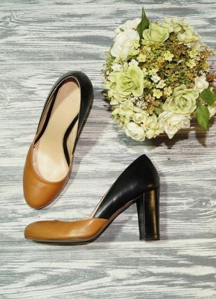 🌿36🌿minozzi. кожа. италия. красивые базовые туфли на удобном к...