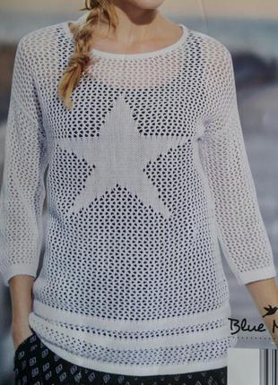 Красивый белоснежный летний свитшот свитерок