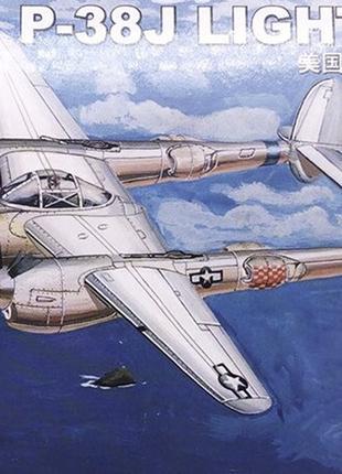 Конструктор Самолет 80401 USA P-38J 1: 144 Сборная модель